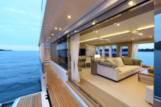 Aboard 40s Hybrid superyacht - Image credit to Thierry Ameller