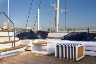 Aboard beautifully refitted luxury yacht Keyla