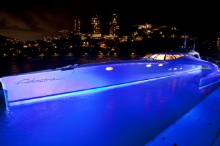 Adastra Yacht - at night.JPG