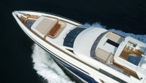 Aerial view detail of the Bilgin motor yacht Tatiana - Design by Joachim Kinder