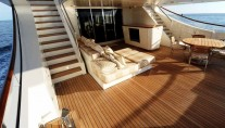 Aft Deck of Motor yacht Basmalina II ex Project Sunbeam