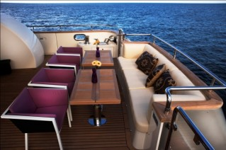 Aft Deck of the Biscuit 95 yacht - Photo Giovanni Malgarini