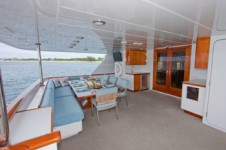 Aft Deck on board the luxury yacht Sea Bear