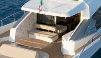 Aicon 82 Open Yacht - Aft View