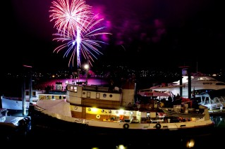 Alaska Pirates Pride (APP) - At night with fireworks