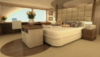 Alia Superyacht Owners Deck Master Cabin - Image credit to Guido de Groot Design