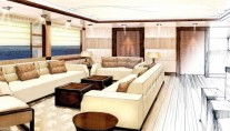 Amels 199 Superyacht Highly sociable Main Deck Saloon