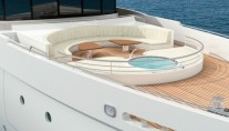 Amels 199 Superyacht Unique foredeck private outdoor lounge and Spa Pool