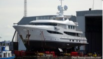 Amels luxury yacht Hull 468 rolled out - Photo by Dutchmegayachts