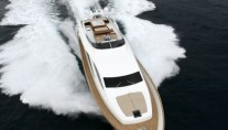 Amer 92 superyacht at full speed