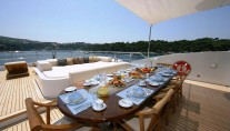 Andreas L Motor Yacht (ex Amnesia)  - Outside Dining For 12 With Sunshade