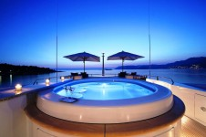 Andreas L Motor Yacht (ex Amnesia)  - The Spa Pool Pool By Night With Lighting
