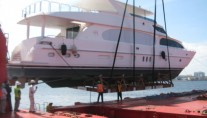 Arrival of Second Love yacht after one months voyage from shipyard in Taiwan