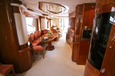 Azimut 80 CIRCUS -  Salon and Dining looking Aft
