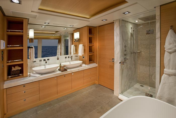 Big fish master bathroom luxury yacht browser by for Huge master bathroom
