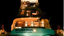 BOLDER WON - Stern view night