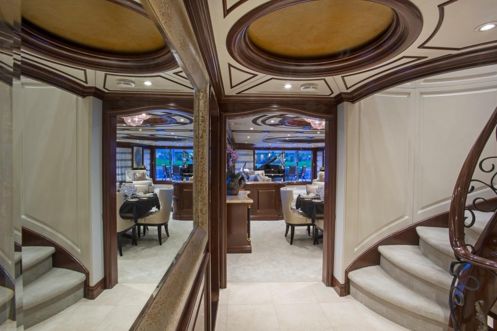 Foyer Luxury Yachts : Bacchus foyer billy black luxury yacht browser by