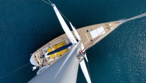 Baltic yacht MIDNIGHT SUN OF LONDON - Aerial shot