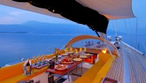 Baltic yacht MIDNIGHT SUN OF LONDON - Alfresco dining 2