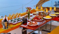 Baltic yacht MIDNIGHT SUN OF LONDON - Alfresco dining