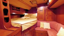 Baltic yacht MIDNIGHT SUN OF LONDON - Forward double cabin