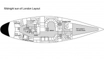 Baltic yacht MIDNIGHT SUN OF LONDON - Layout