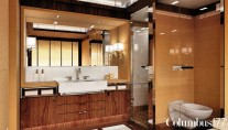 Bathroom on board of the superyacht Prima by Palumbo - Interior by Spadolini Studio Design