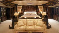 Beautiful suite aboard REVERIE yacht by Benetti
