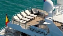 Benetti 122 Motor yacht -  Sundeck from Above