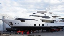 Benetti Crystal 140 Yacht Luna - side view