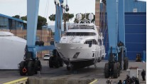 Benetti Delfino 93 superyacht Zehava at launch