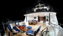 Benetti MY DOMANI - Upper deck by night