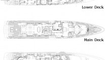 Benetti Superyacht SUNDAY -  Layout