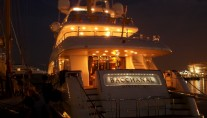 Benetti Yacht BACCHANAL -  Aft View at Night