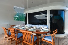 Benetti yacht LADY MICHELLE - Alfresco dining upper deck