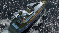 Bering 70 Yacht from above