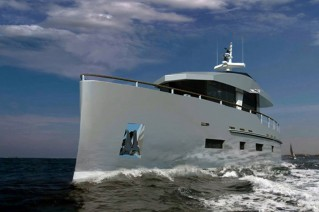 Bering 70 Yacht underway