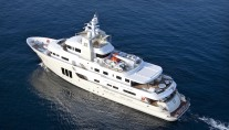 Birds view of the E&E expediotion yacht by Cizgi Yachts