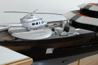 Black Diamond yacht with her helicopter