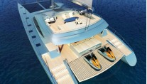 Blue Coast 78 Yacht - aft view