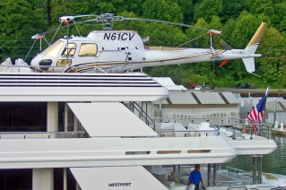 Boardwalk Superyacht Helicopter detail - Image courtesy of Westport Yachts
