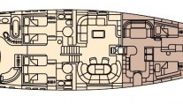 CELANDINE -  Lower Deck Layout