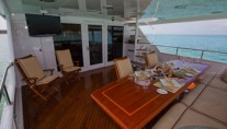 CHASING DAYLIGHT -  Aft Deck Al Fresco Dining