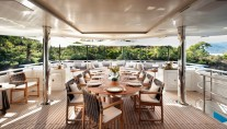CMB Motor yacht ORIENT STAR - Alfresco dining upper deck
