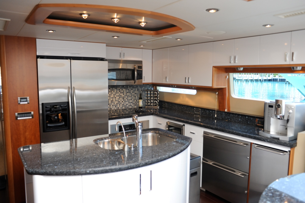 Galley Country Kitchen luxury yacht charter chip - cold gecko. - galley (country kitchen