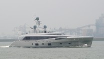 COMO superyacht during her sea trials - Photo by Kees Torn