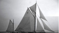 CORAL OF COWES -  Coral of Cowes racing in 1902