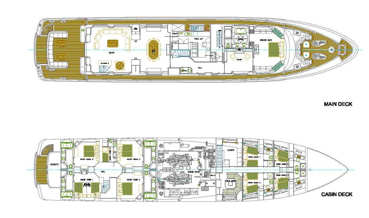 Lower deck image gallery luxury yacht browser by charterworld cracker bay layout main and lower deck baanklon Choice Image