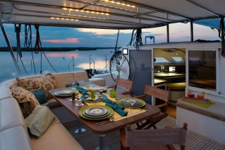 Cat MALISI - Aft Deck Al Fresco Dining at Night