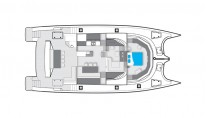Catamaran Abuelo - Layout Main Deck